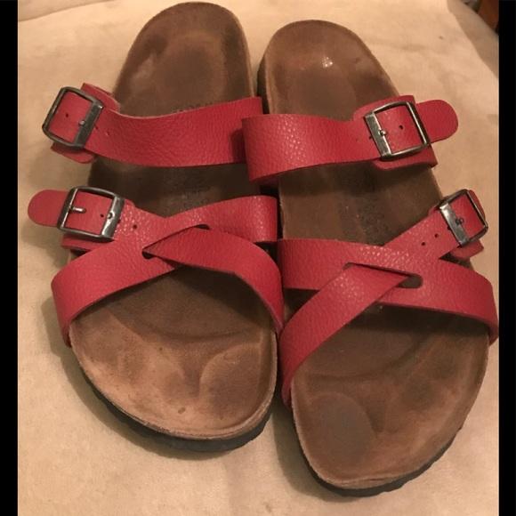 c14ef360c032 Birkenstock Shoes - SALE Birkenstock Birkis Sandals Red, EUR 39